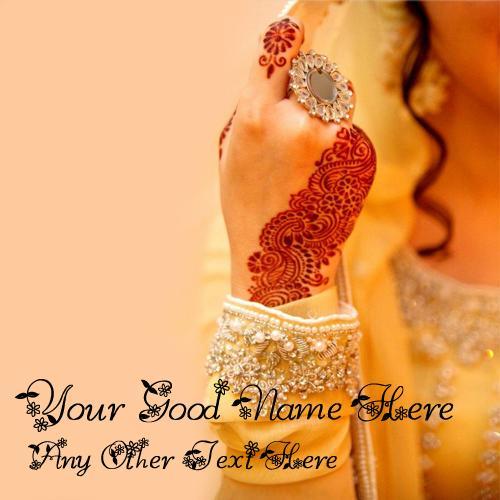 Design your own names of Girl Mehndi