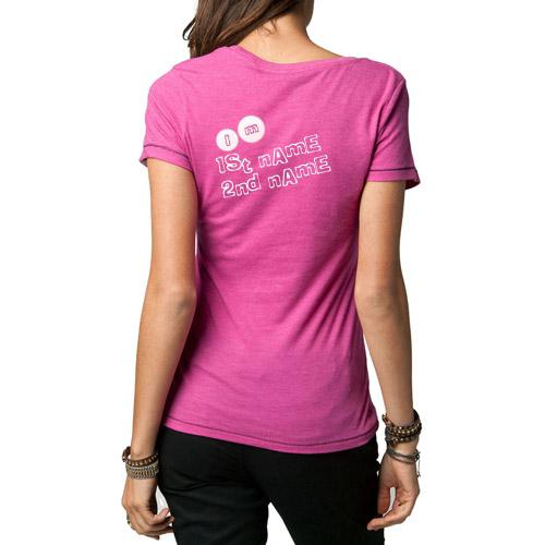 Design your own names of Girl Pink T-Shirt