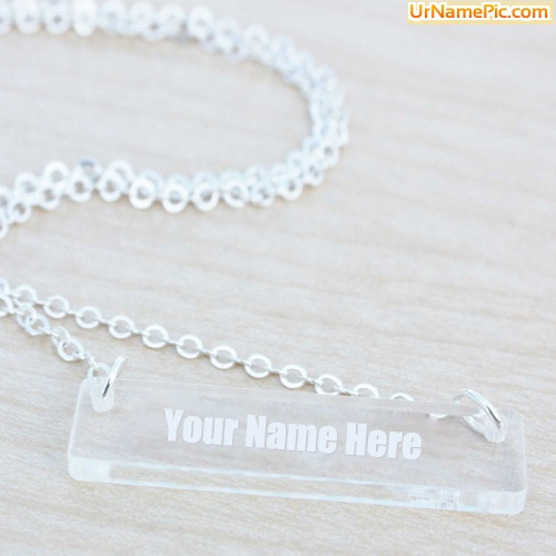 Design your own names of Glass Bar Necklace