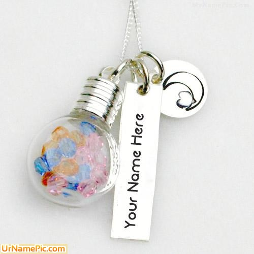Design your own names of Glass Vial Necklace
