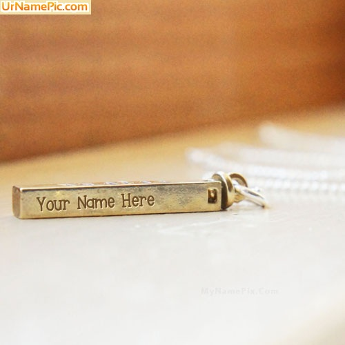Design your own names of Golden Charm Pendant