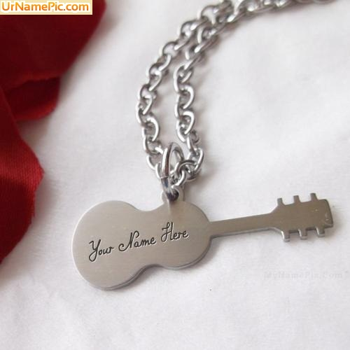 Design your own names of Guitar Necklace