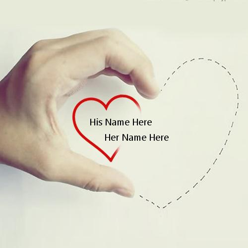 Design your own names of Hand Heart