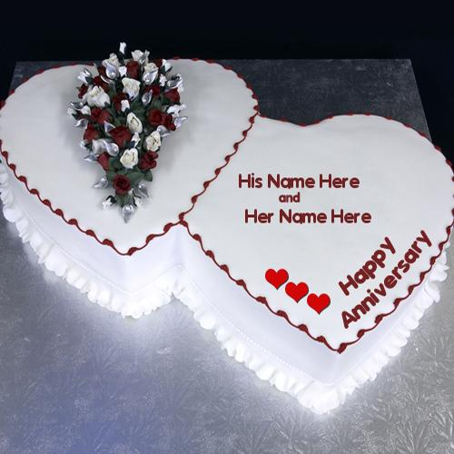 Design your own names of Happy Anniversary Cake