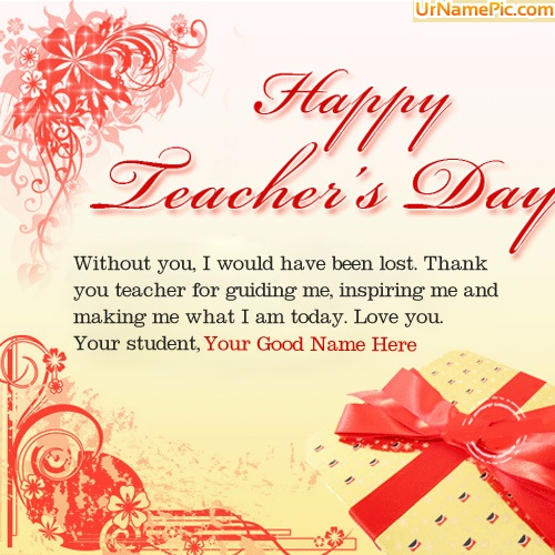 Happy Teachers Day Wish Name Picture - Teachers Day Name Generator