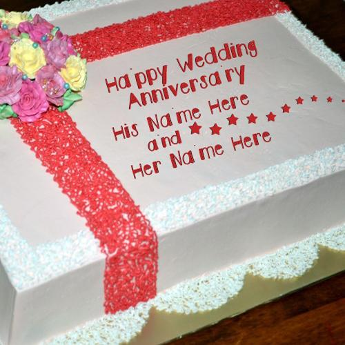 Design your own names of Happy Wedding Anniversary