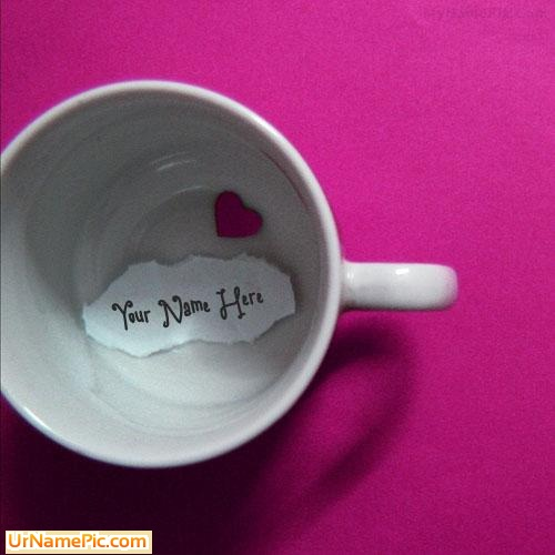 Design your own names of Heart Cup