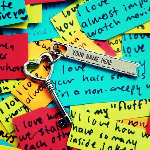 Design your own names of Heart Key