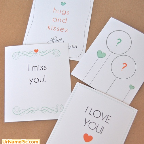 Design your own names of Hugs and Kisses
