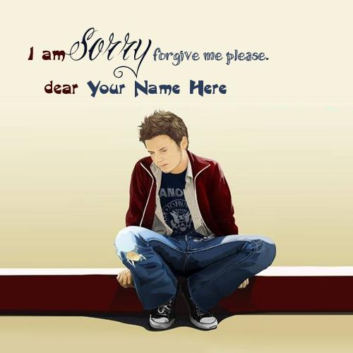 Design your own names of I am Sorry