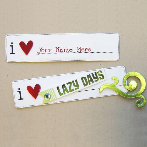 Design your own names of I Love Lazy Days