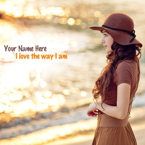 Design your own names of I love the way I am