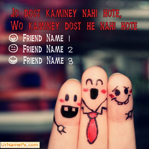 Design your own names of Kaminey Dost