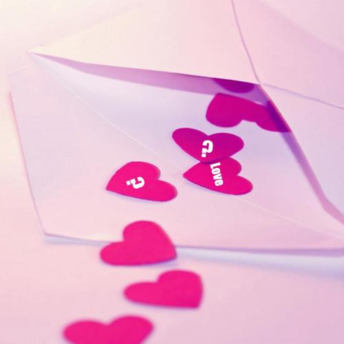 Design your own names of Letter Hearts