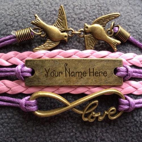 Design your own names of Love Birds Bracelet