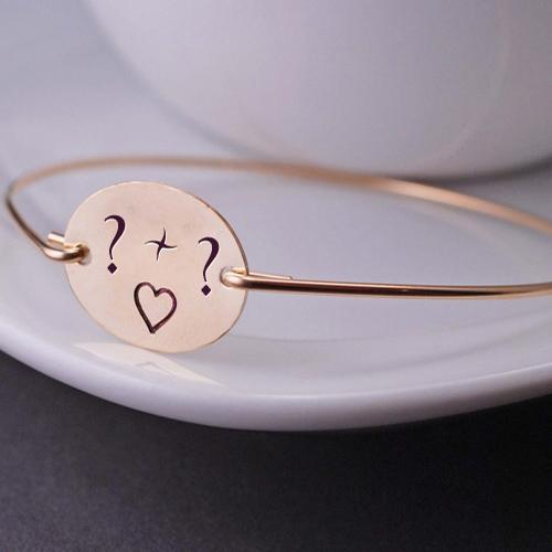 Design your own names of Love Heart Initial Bracelet