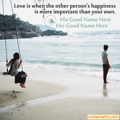 Design your own names of Love is Happiness
