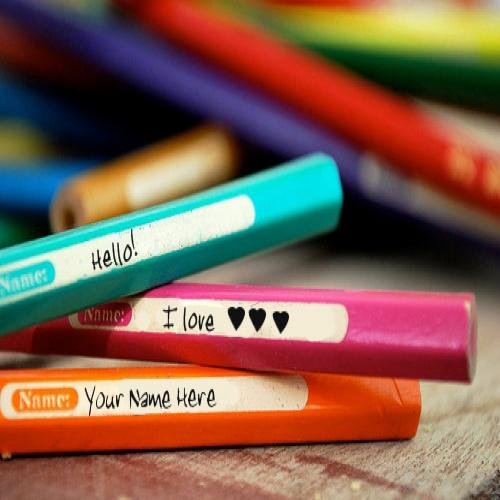 Design your own names of Love Pencils