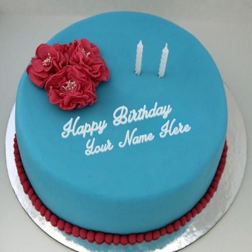Write name on Lovely Ice Cream Cake happy birthday cake with name