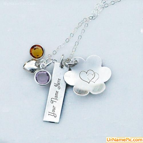 Design your own names of Lovely Silver Necklace