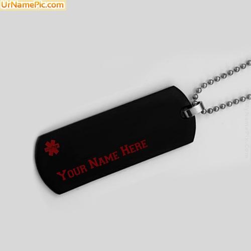 Design your own names of Medical Alert Necklace