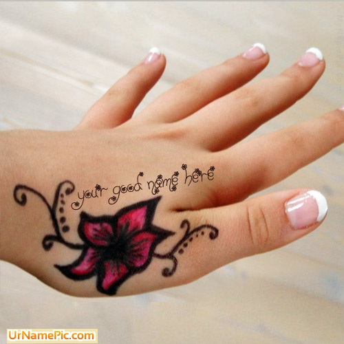 Mehndi Name Hand Picture Stuff Generator