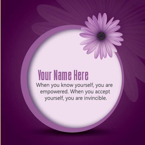 Design your own names of Purple Message