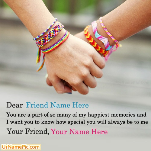 Design your own names of Real True Friendship