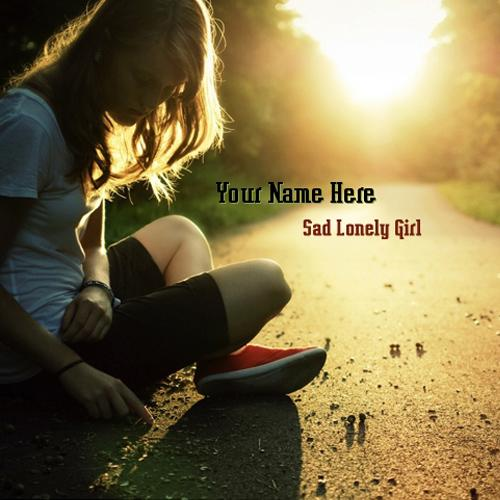 Design your own names of Sad Lonely Girl