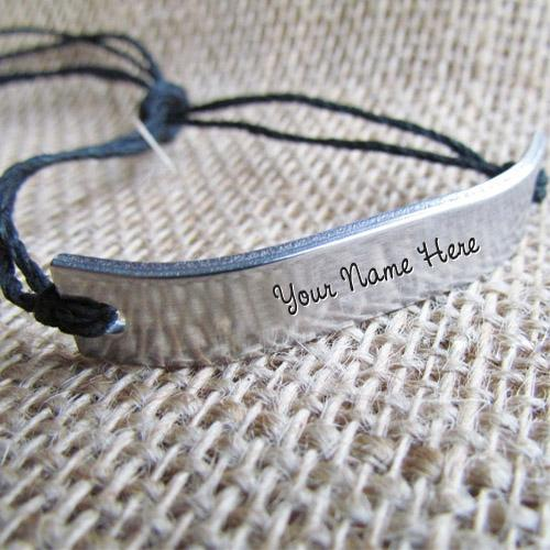 Design your own names of Silver Personalized Bracelet