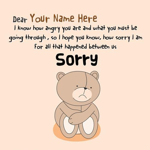 Design your own names of Sorry Dear Forgive Me