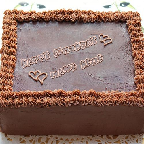 Design your own names of Square Chocolate Cake