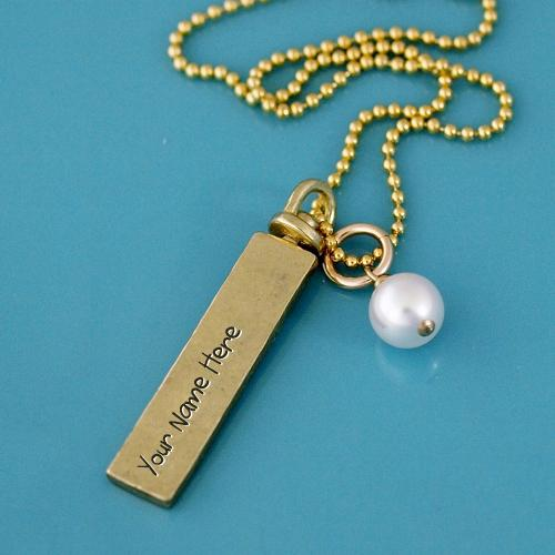 Design your own names of Sterling Silver Gold Filled Necklaces