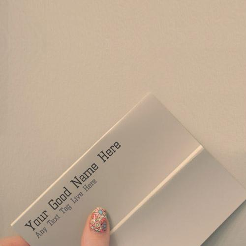 Design your own names of Take my card