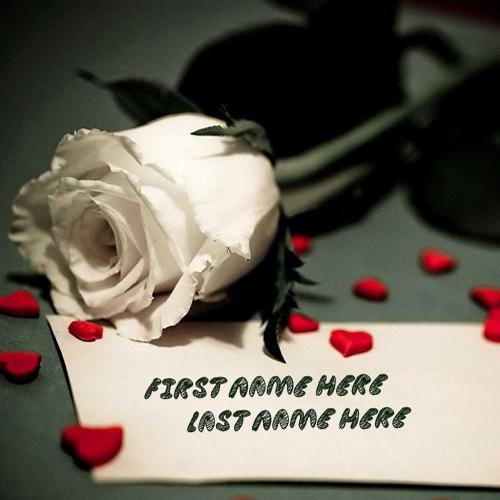 Design your own names of White Rose and Note