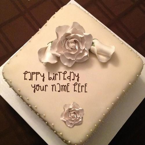 Design your own names of White Rose Cake