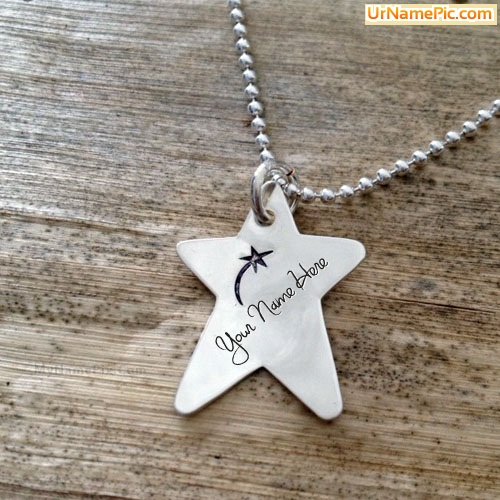 Design your own names of Wish Star Necklace