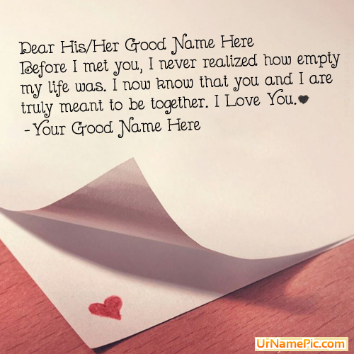 Design your own names of Love Proposal