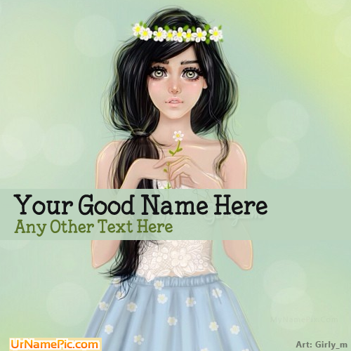 Design your own names of Pretty Girl Drawing
