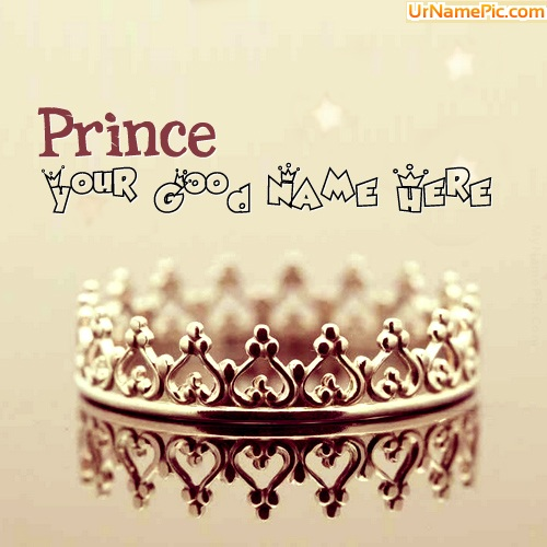Design your own names of Prince Crown