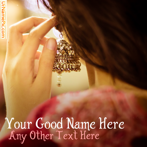 Design your own names of Stylish Girl Ear Ring