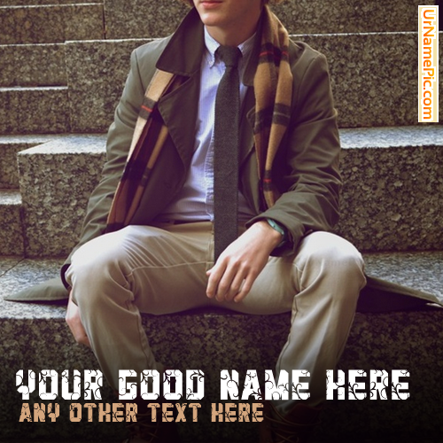Design your own names of Stylish Guy Sitting