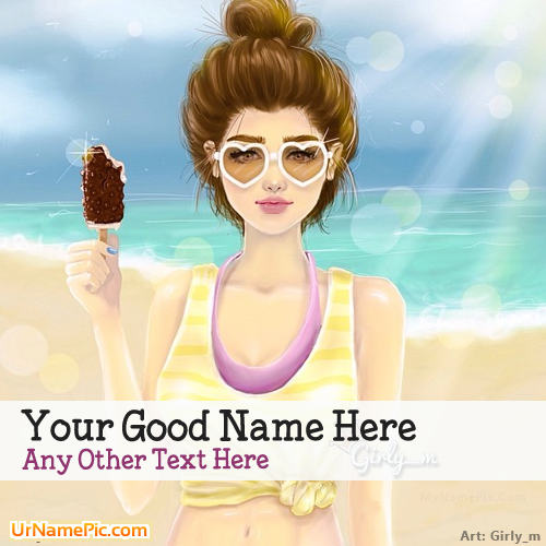 Design your own names of Summer Girl Drawing