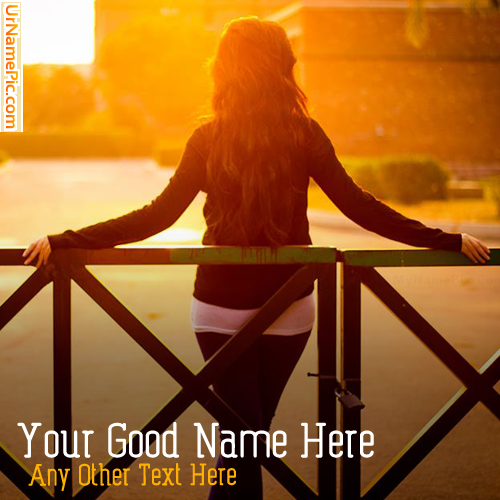 Design your own names of Sunset Alone Girl