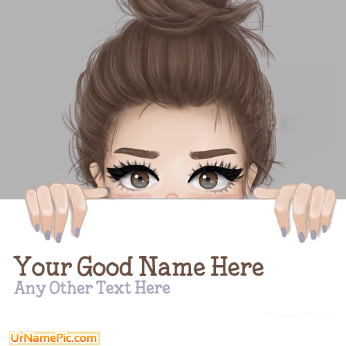 Design your own names of Sweet Girl Drawing