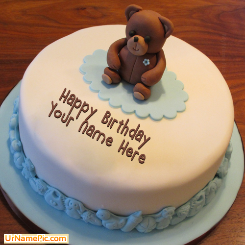 Design your own names of Teddy Bear Birthday Cake