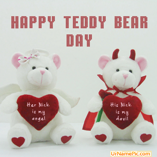 Teddy Bear Day 2015 Name Picture Happy Teddy Day Name