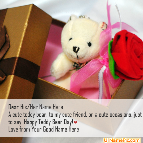 Design your own names of Teddy Bear Day Gift