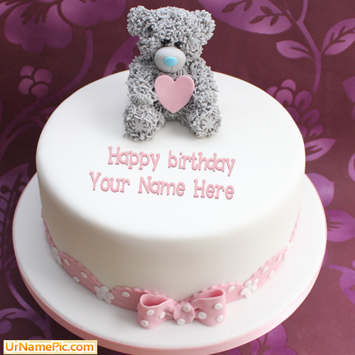 Design your own names of Teddy Birthday Cake